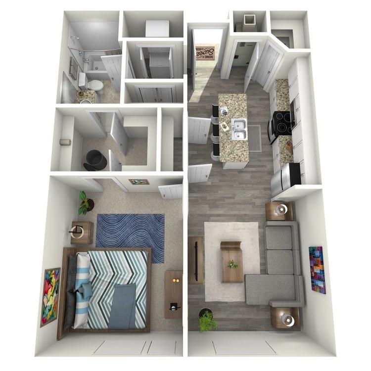 Floor plan image of 1x1 Alt
