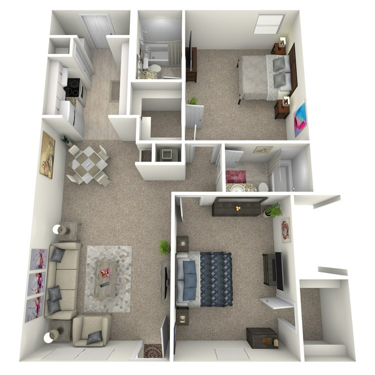 Floor plan image of 2 Bed 2 Bath Flat