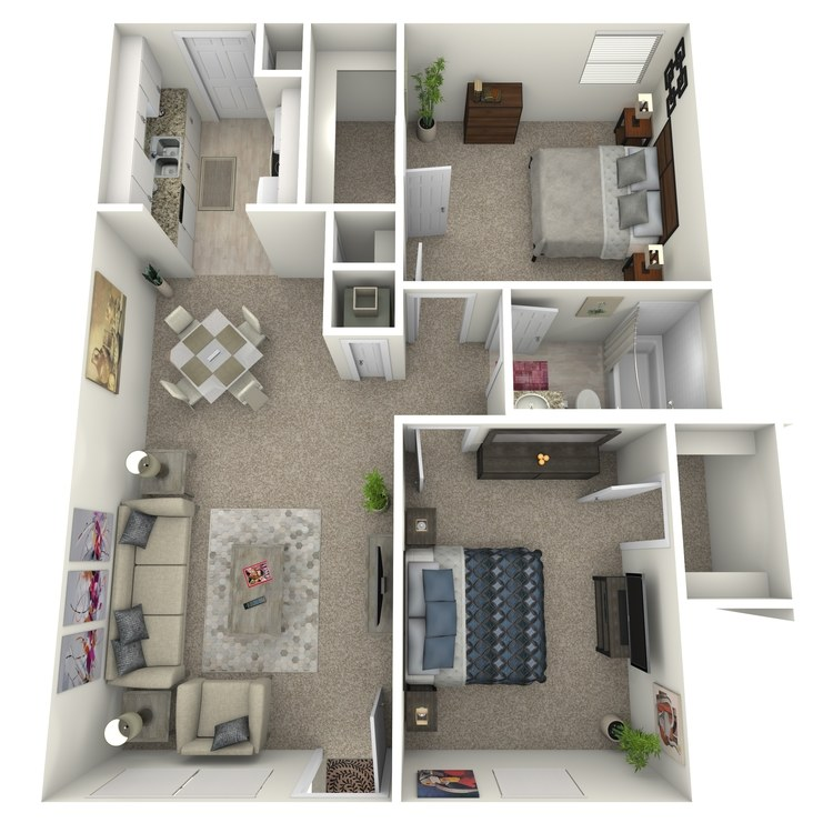 Floor plan image of 2 Bed 1 Bath Flat
