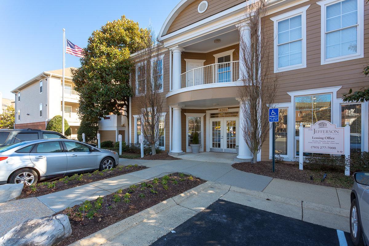 Parking Lot at The Jefferson at Fair Oaks Apartments in Fairfax VA