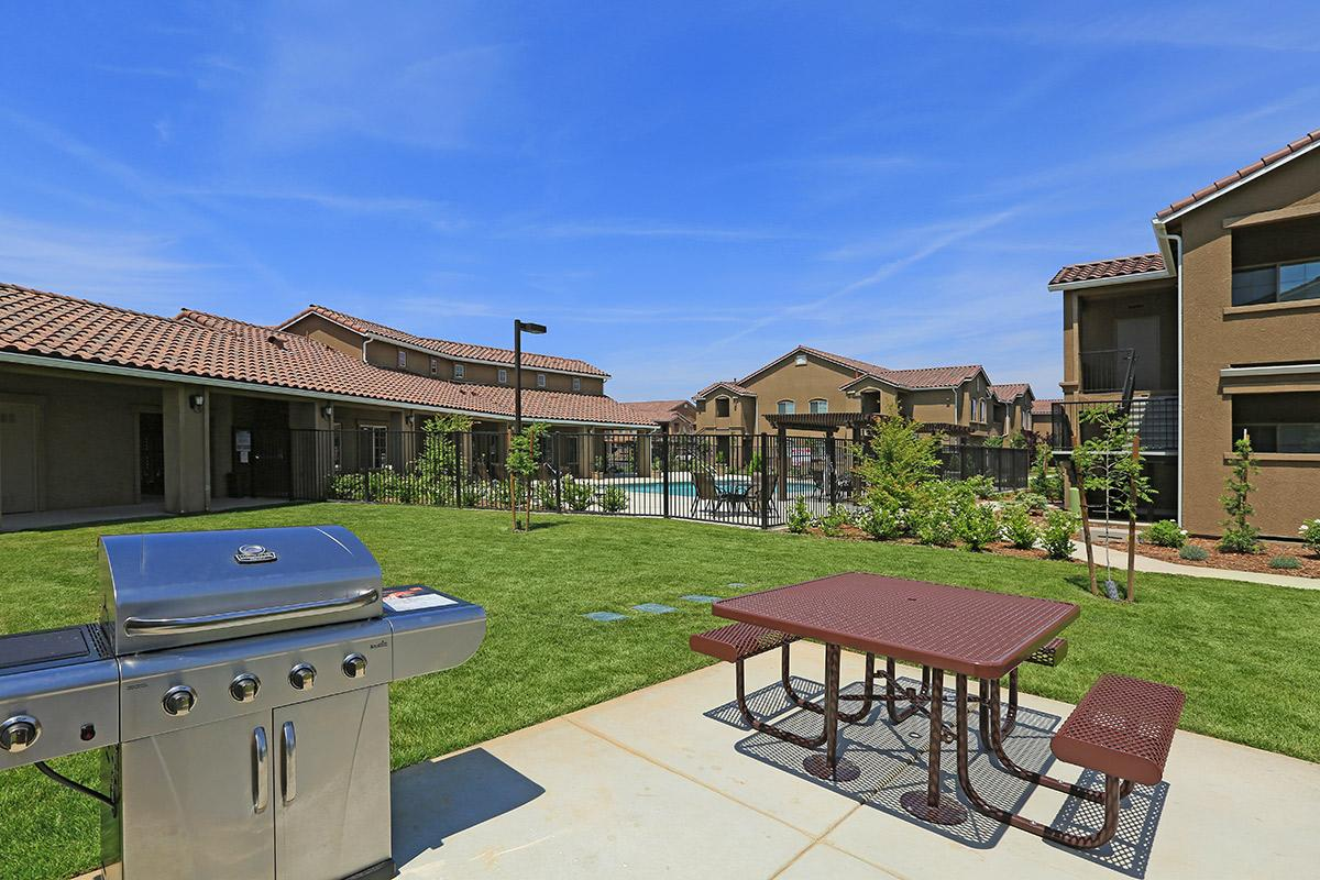 This is the barbecue area at Greystone Apartments