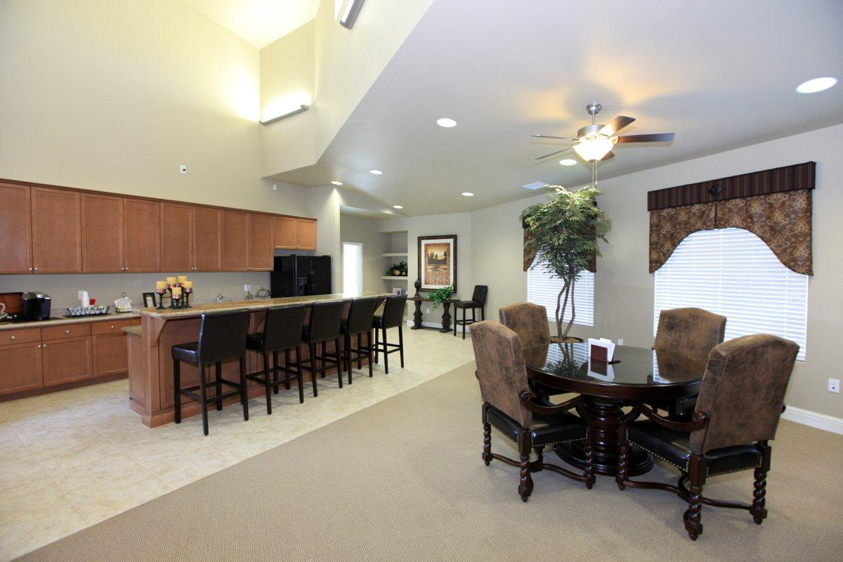 We have a beautiful community clubhouse here at Greystone Apartments
