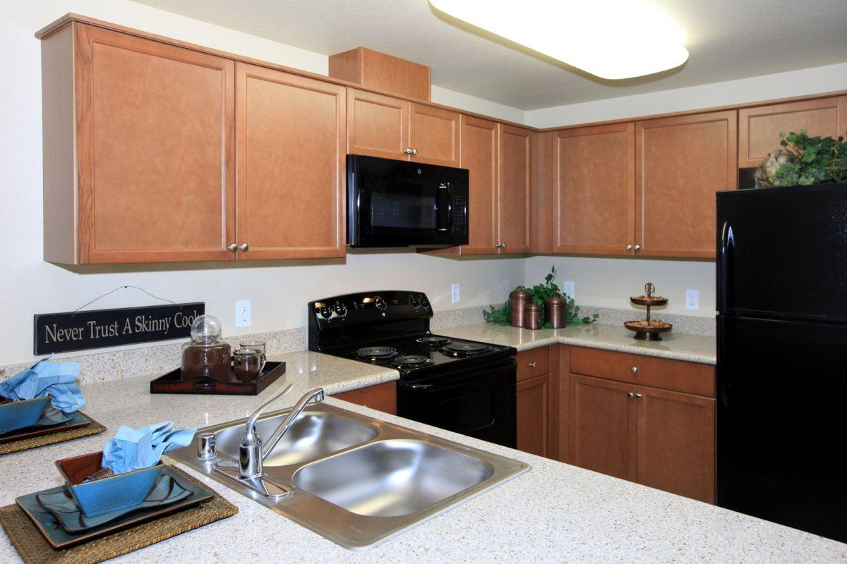 We have all-electric kitchens here at Greystone Apartments