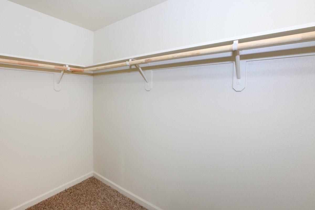 Large walk-in closets are provided at Greystone Apartments