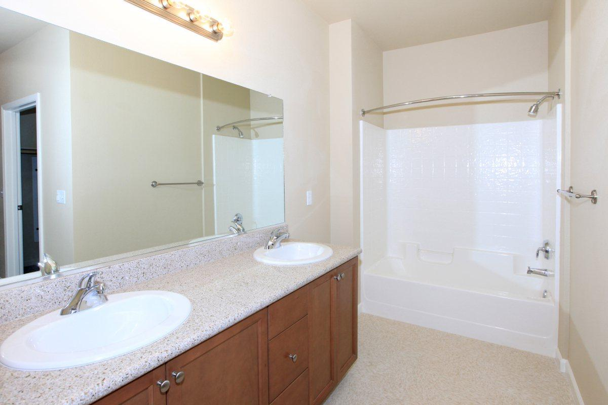 Some homes at Greystone Apartments has double-vanities
