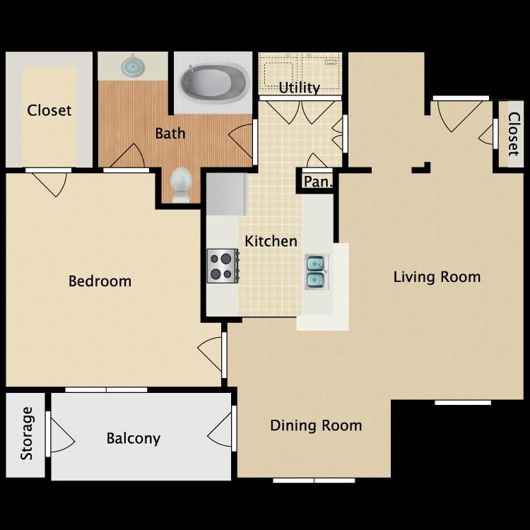 Plan A2 floor plan image