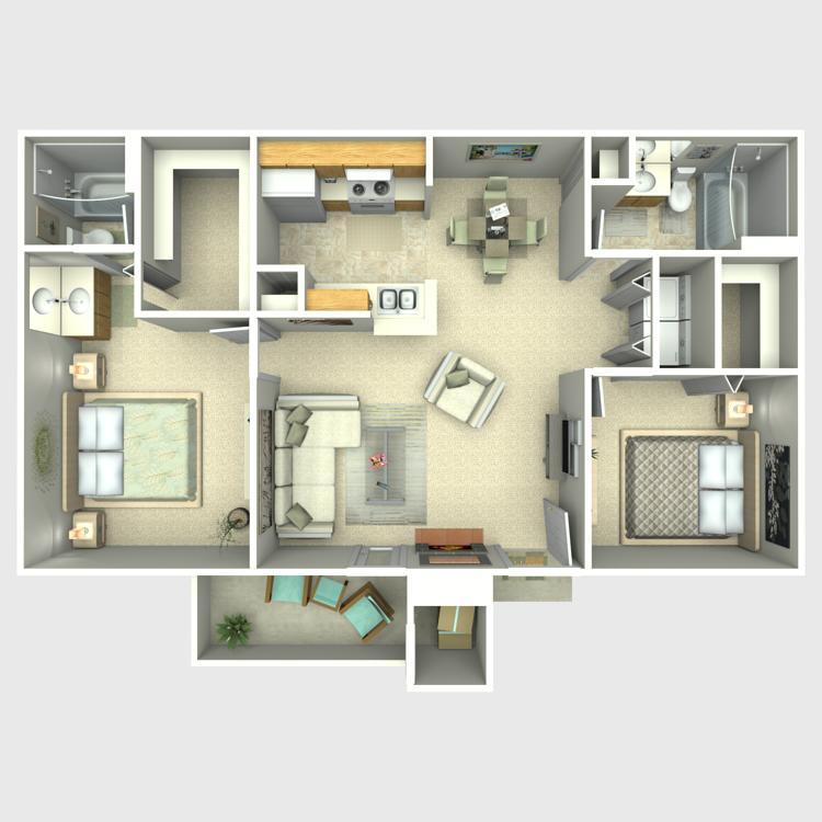 Floor plan image of Maple