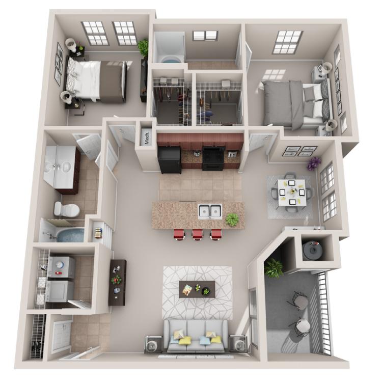 Floor plan image of The Duet