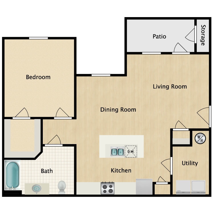 Floor plan image of 1 Bedroom A1