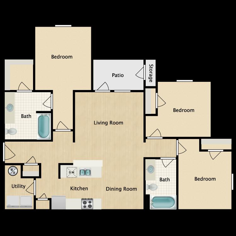 Floor plan image of 3 Bedroom C1