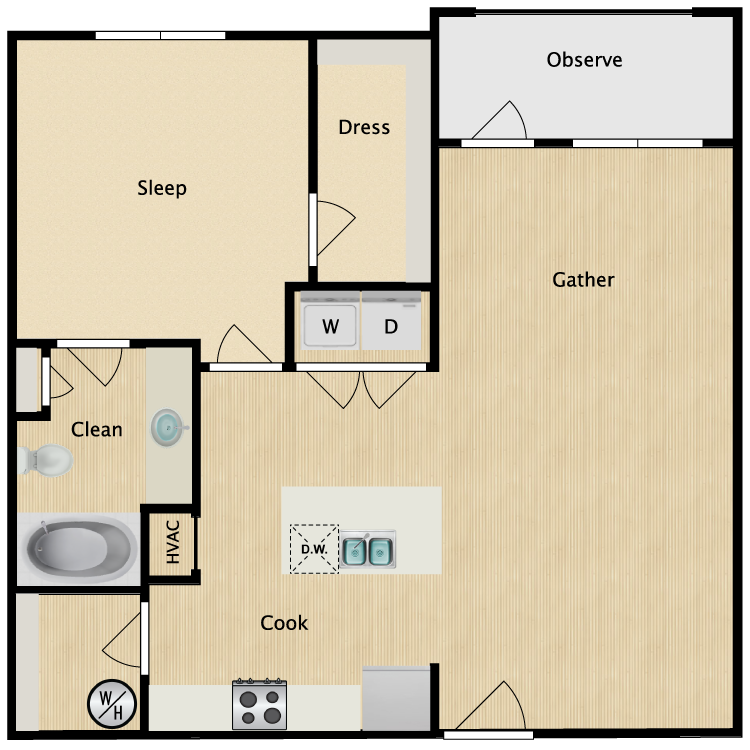 Floor plan image of Wallstreet