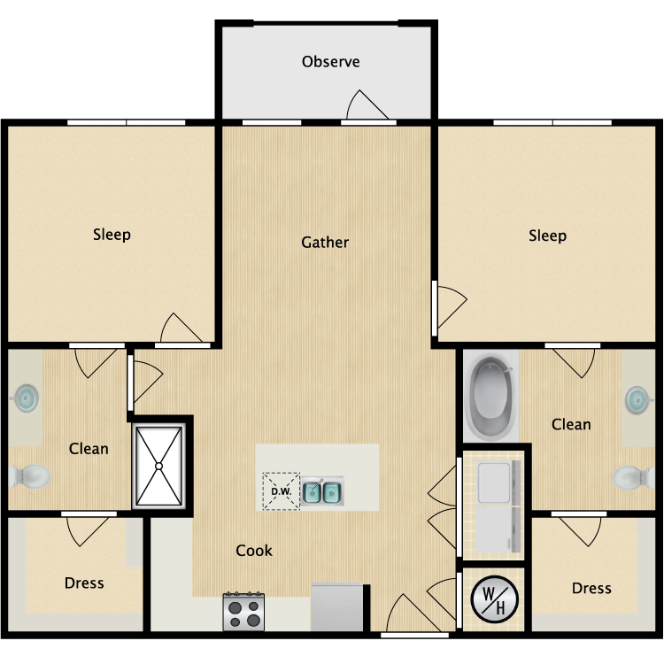 Floor plan image of Central Park