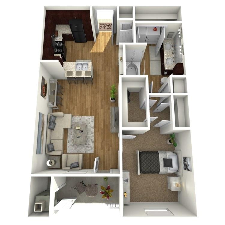 Floor plan image of Bay Shore B