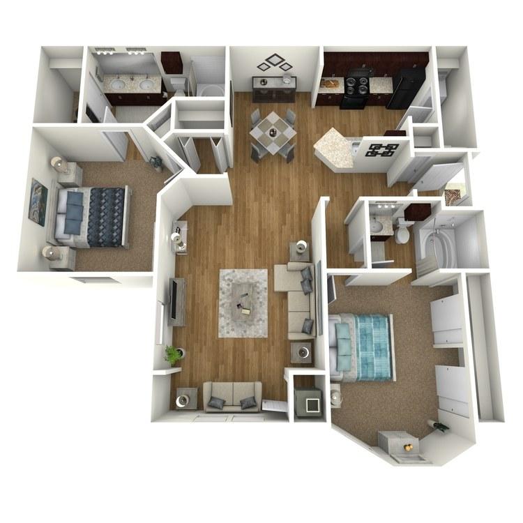 Floor plan image of Bay Front B