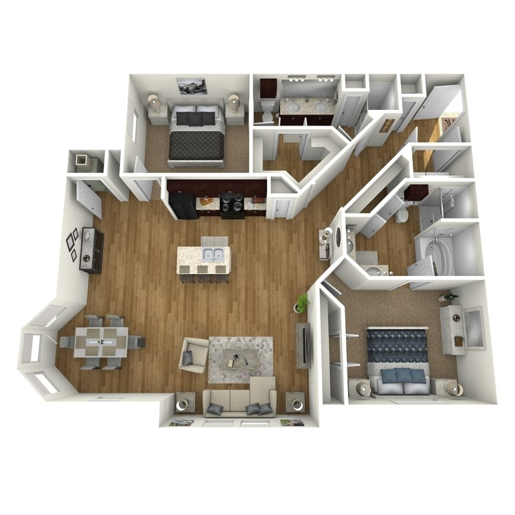 Floor plan image of Waterfront A