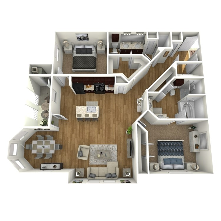 Floor plan image of Waterfront B