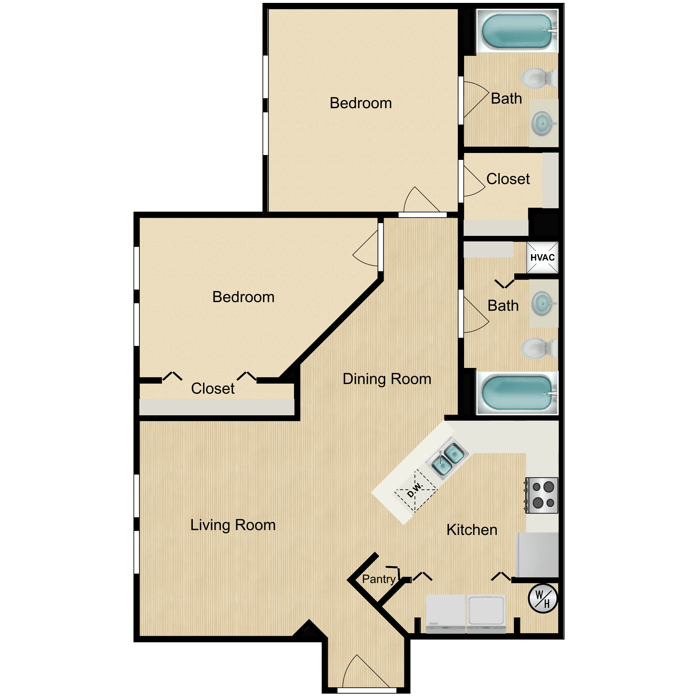 Floor plan image of 2 Bedroom