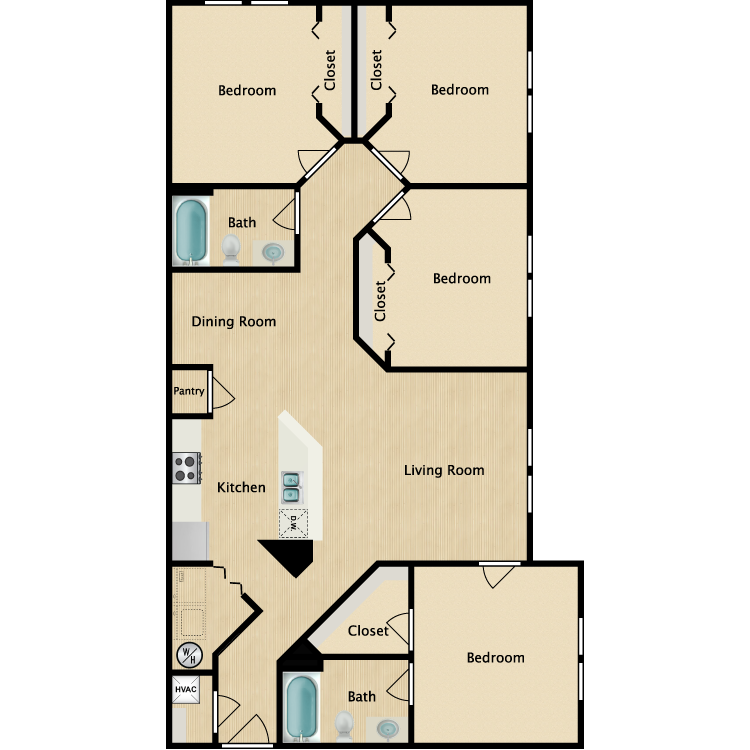Floor plan image of 4 Bedroom