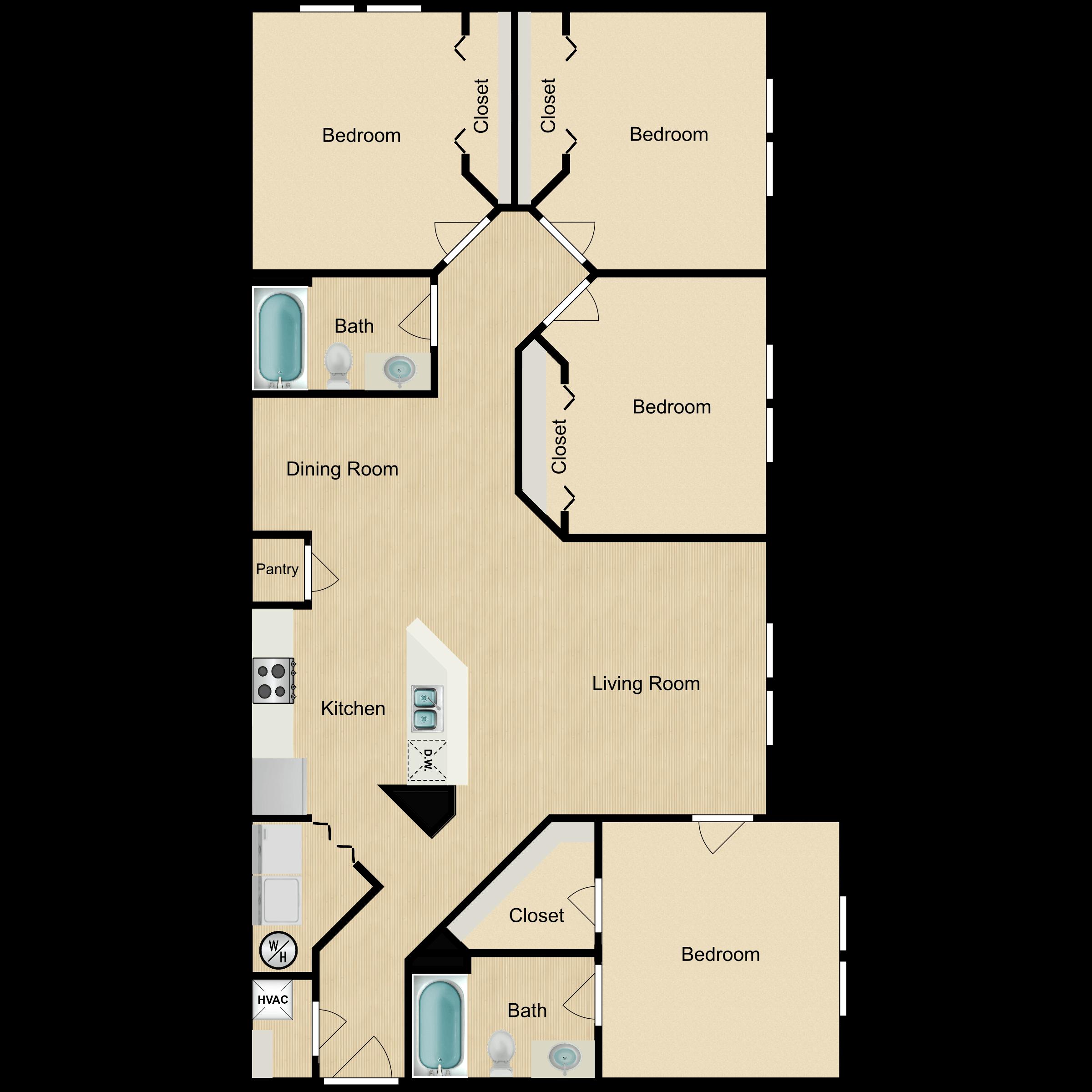Floor plan image of 4 Bedroom