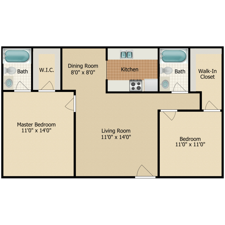 Floor plan image of Bishop Pine