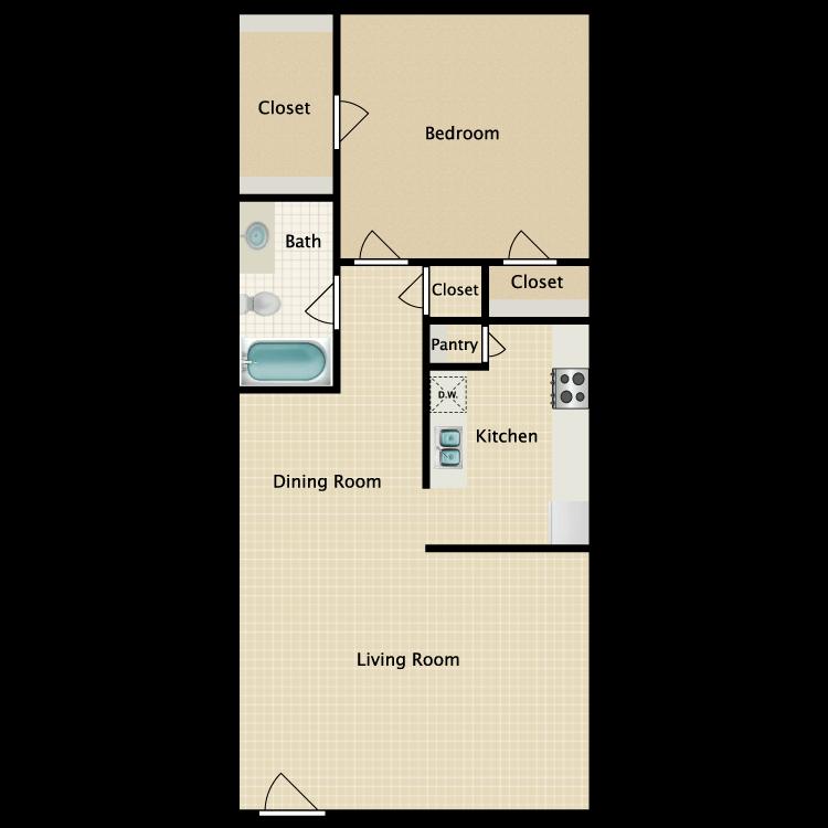 Floor plan image of Colonial 1