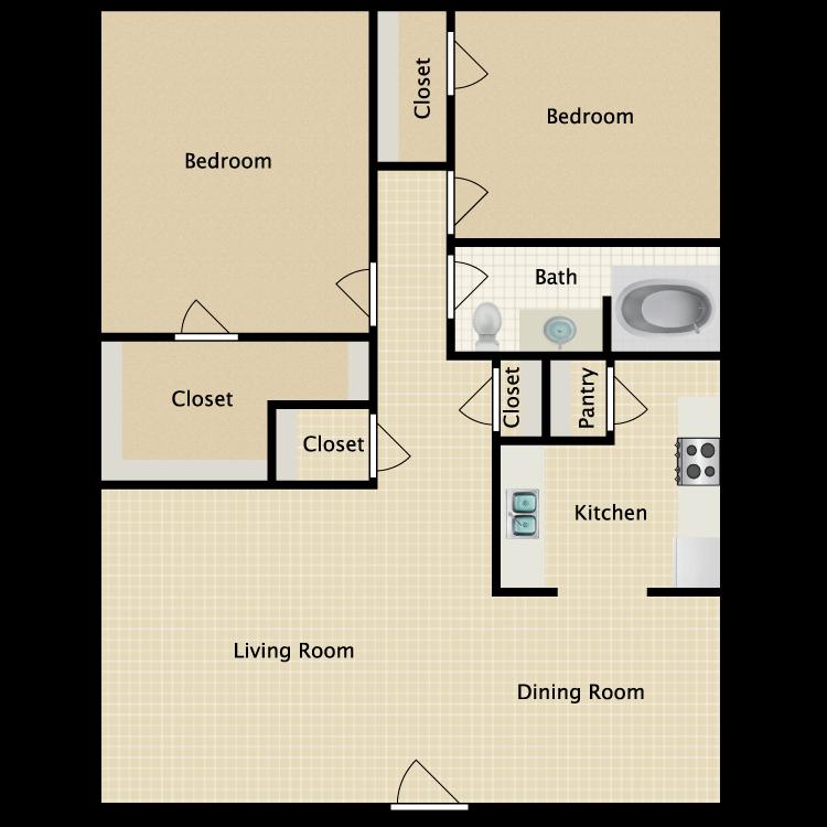 Floor plan image of Villas 2