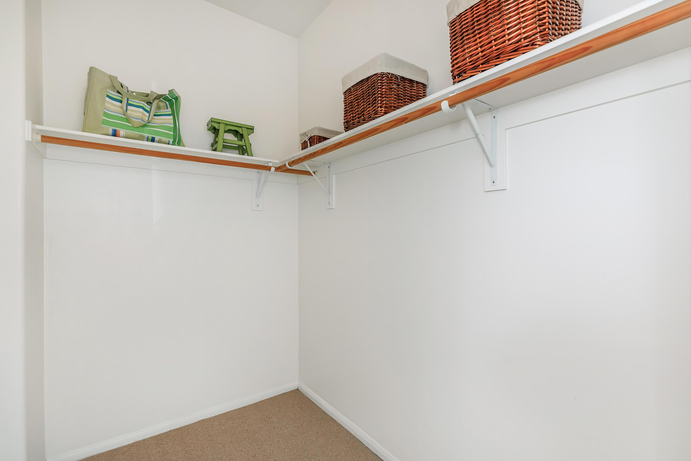 a refrigerator in a small room