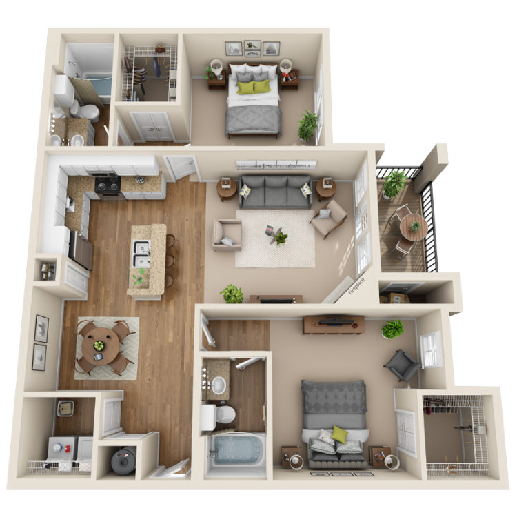 Floor plan image of The Hudson