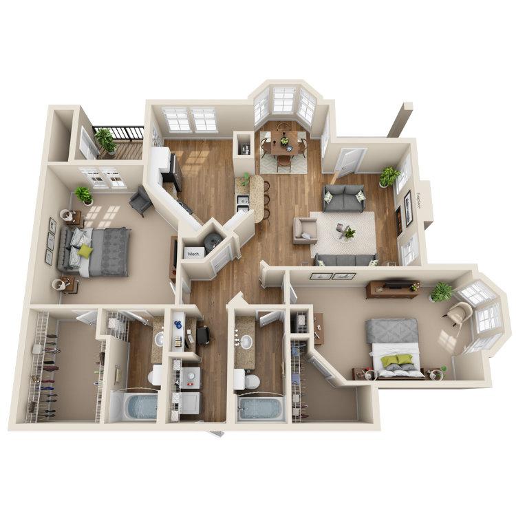 Floor plan image of The Yukon