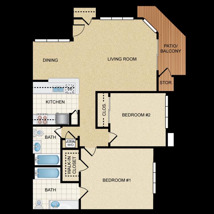 Malibu floor plan image