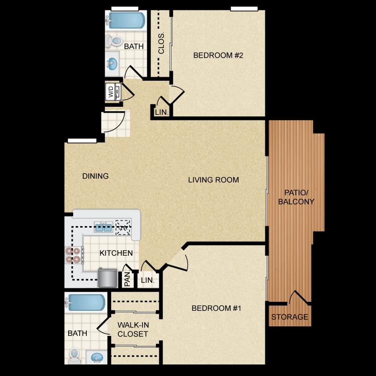 Sunset floor plan image