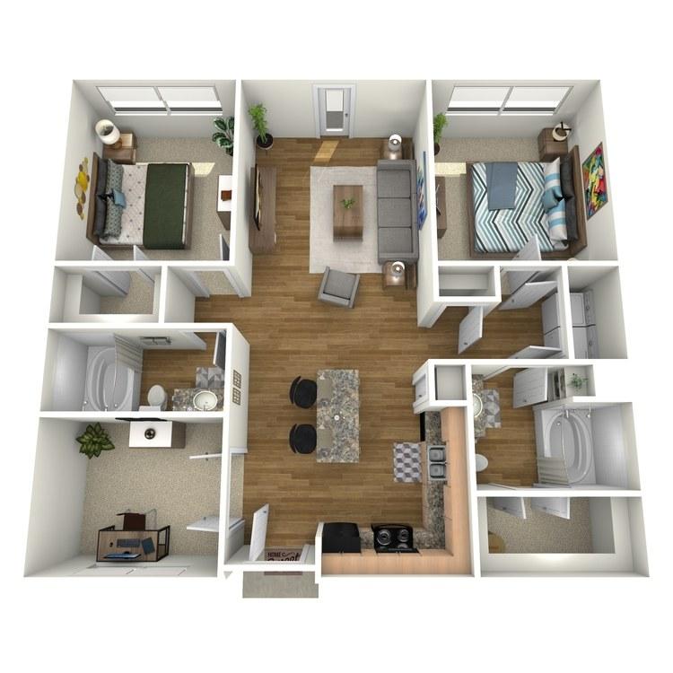 Floor plan image of Travis