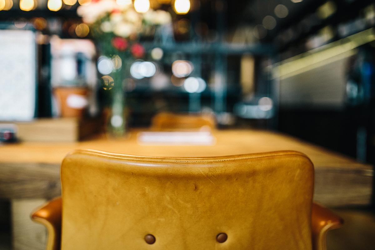 a glass mug on a table