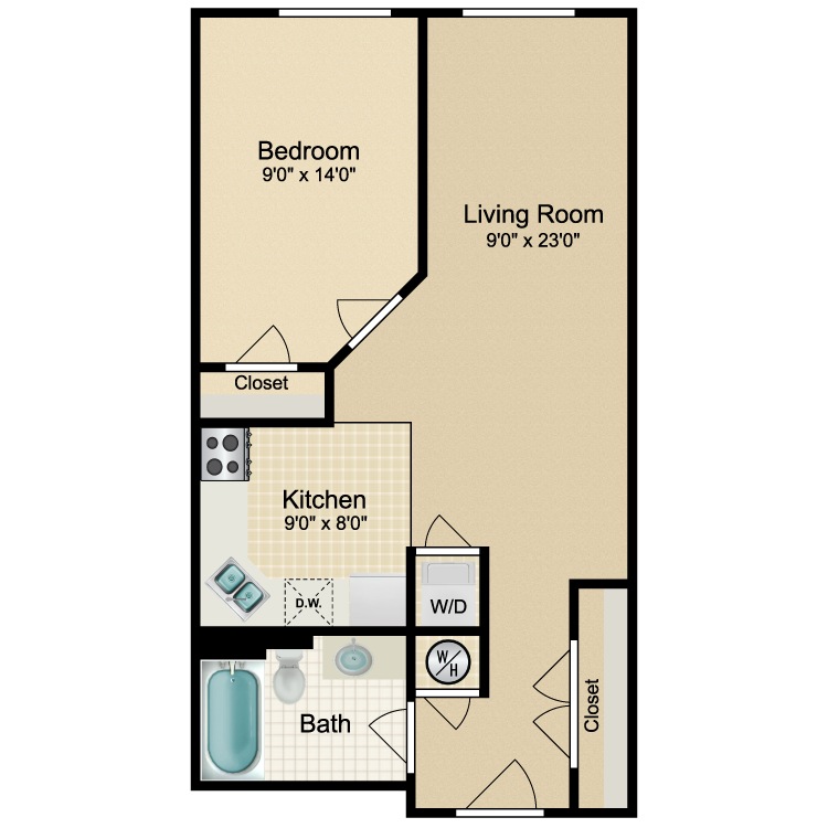 Floor plan image of 1 Bed Traditional