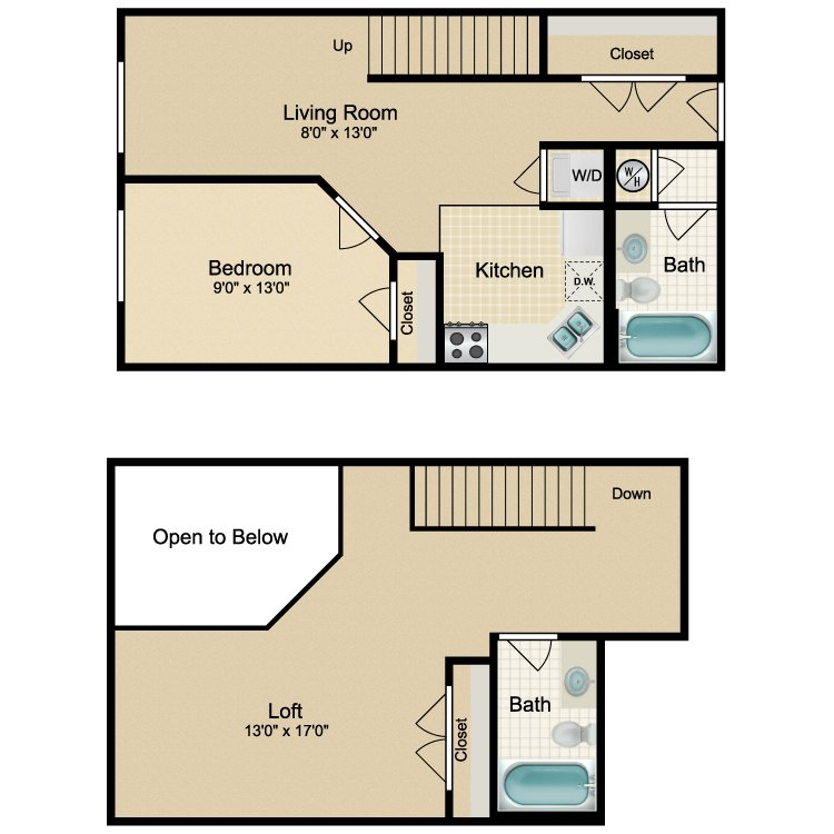 Floor plan image of 2 Bed Traditional