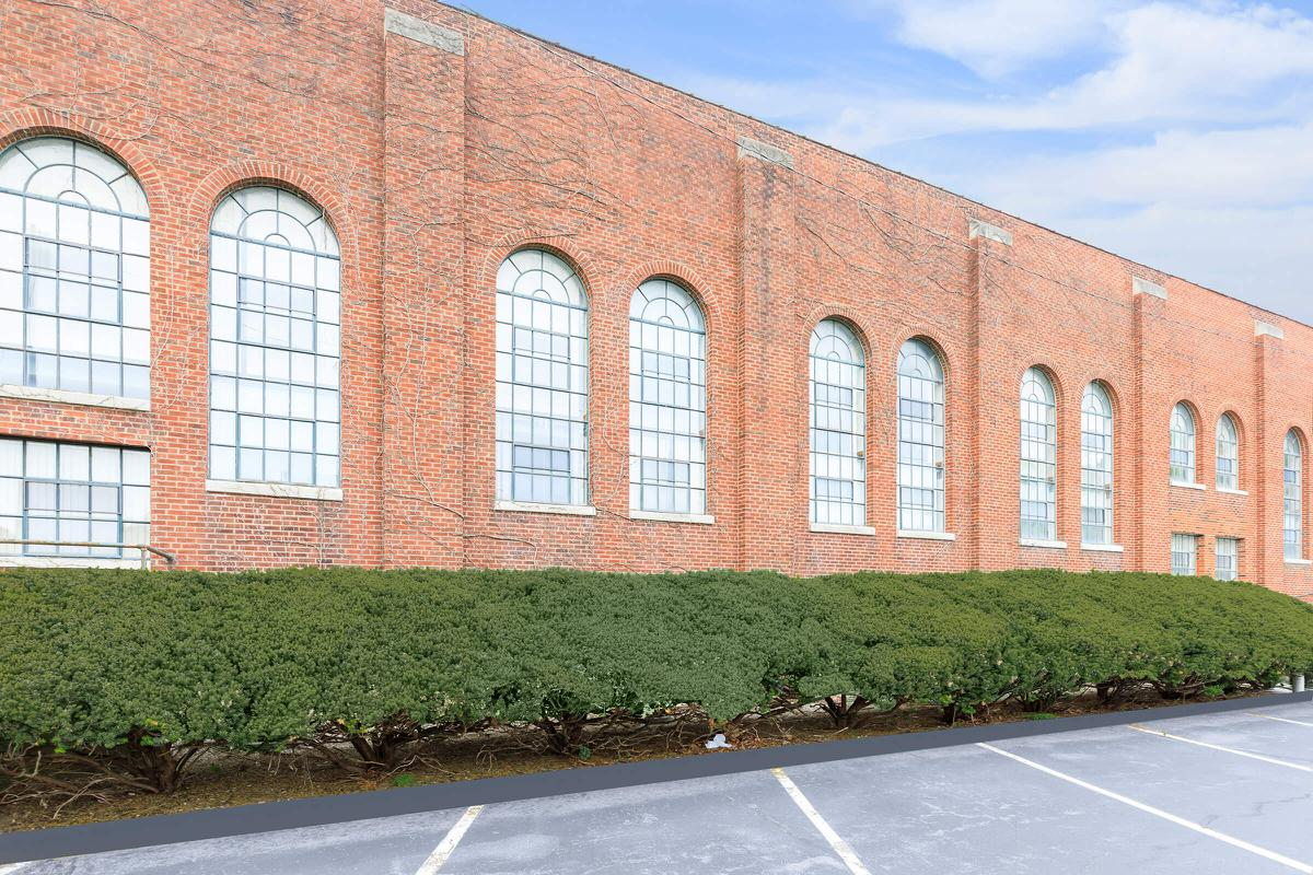 a large red brick building