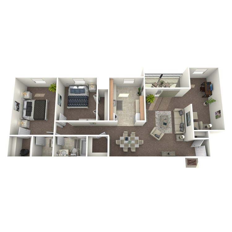 Floor plan image of 2 Bedroom with Den