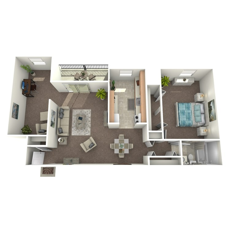 Floor plan image of 1 Bedroom with Den