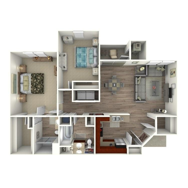 Floor plan image of The Hampton