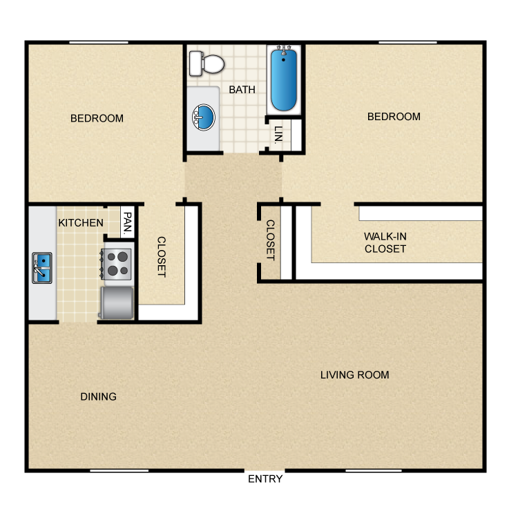 Casita floor plans thefloors co for 2 bedroom casita plans