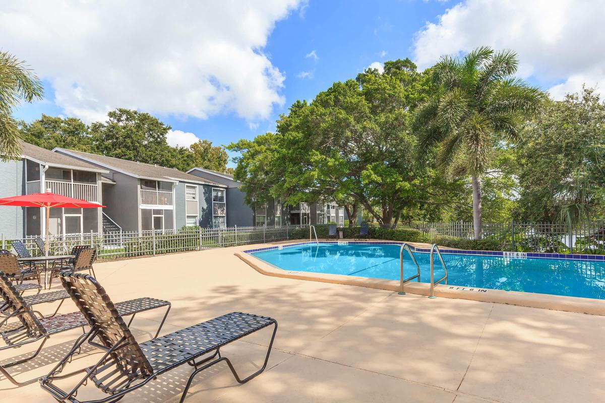 Soak up the sun by the pool at Arbor Oaks Apartments in Bradenton, Florida.