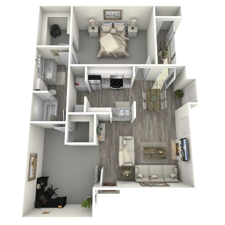 Floor plan image of B1 Renovated