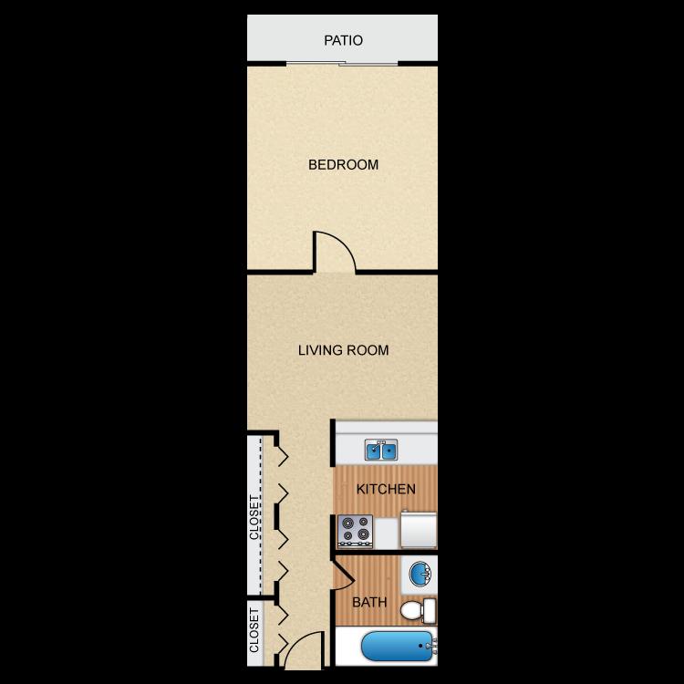 1 Bedroom 1 Bath Jr. CaSienna   Availability  Floor Plans   Pricing
