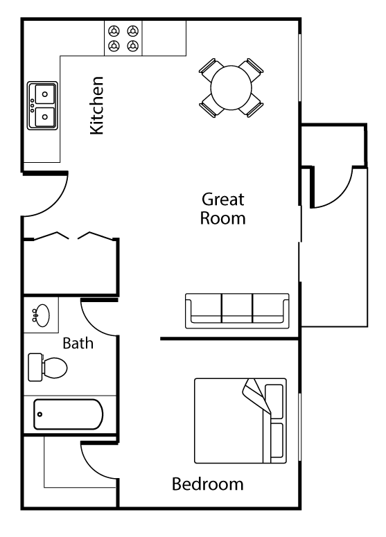 Floor plan image of Twin Peaks