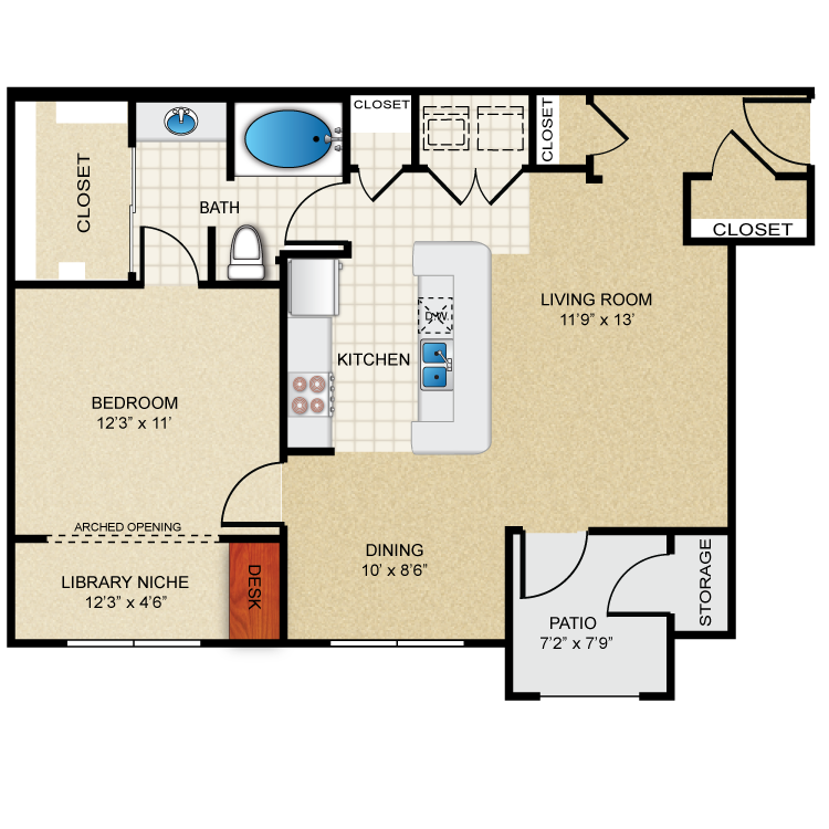 Floor plan image of A2 Sutton
