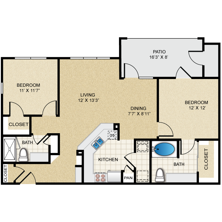 Floor plan image of B1 Winslow