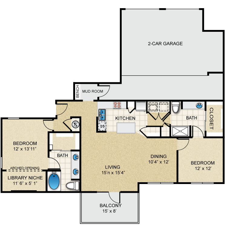 Floor plan image of B3 Allen