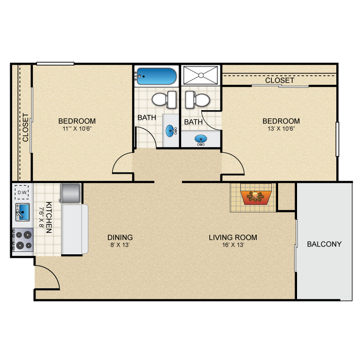 Floor plan image of Samba