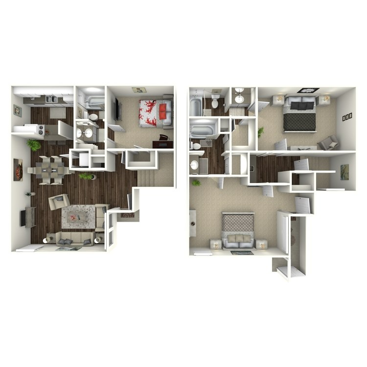 Floor plan image of C3 3 Bed 2 Bath