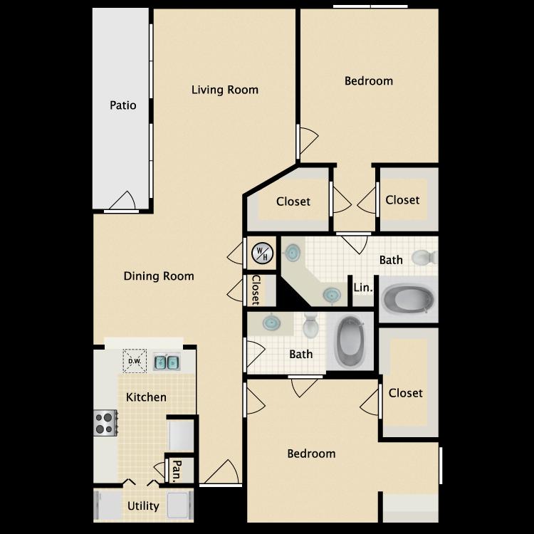 Floor plan image of Post Oak